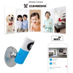 Baby monitor wireless audio video IP blue